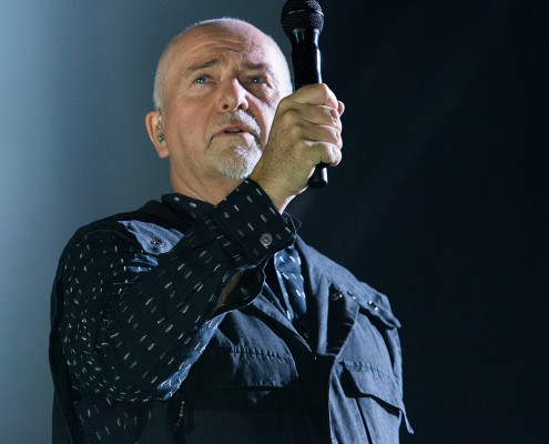 """Peter Gabriel auf seiner """"Back to Front""""-Tour im ISS Dome. Foto: AWi"""